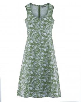 PALM Dámské šaty z konopí a biobavlny - zelená herb