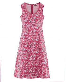 PALM Dámské šaty z konopí a biobavlny - červená sangria