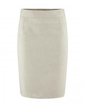 FIGUR dámská sukně z konopí a biobavlny - světle šedá distel