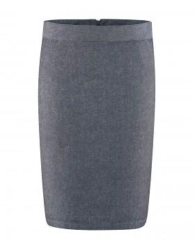 FIGUR dámská sukně z konopí a biobavlny - tmavě modrá wintersky