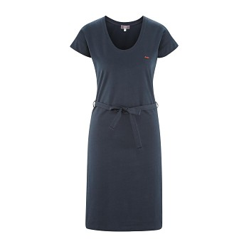 GILDA Dámské šaty ze 100% biobavlny - tmavě modrá ink
