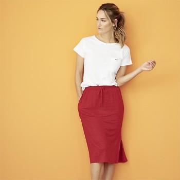GORGIA Dámská sukně ze 100% bio lnu - červená
