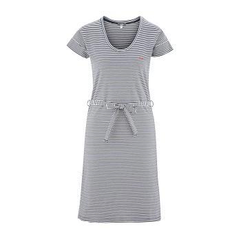 GILDA Dámské šaty ze 100% biobavlny - modrý proužek