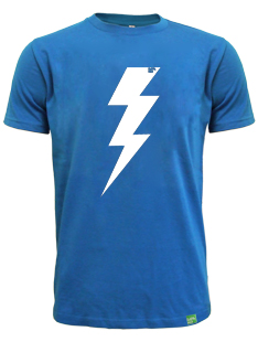 Pánské modré tričko FLASH bio-bavlna