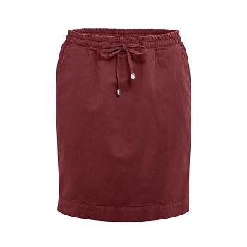 GRACE Dámská sukně z bio lnu a bio bavlny - červenohnědá rosso