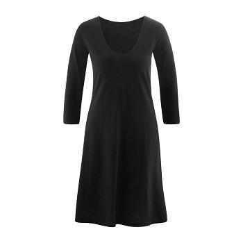 EBONY Dámské šaty ze 100% biobavlny - černá