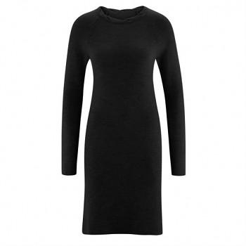DOTTIE Dámské zimní šaty ze 100% bio merino vlny - černá
