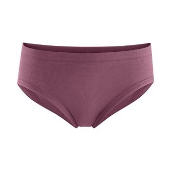 WASE dámské kalhotky (briefs) se zpevněným pasem ze 100%  biobavlny - fialová dark rose