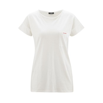 GERALDINE Dámské tričko s krátkými rukávy ze 100% biobavlny - bílá