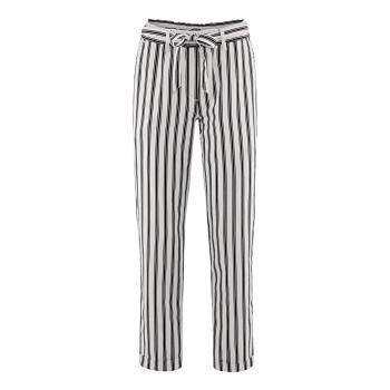GILL dámské kalhoty z bio lnu a bio bavlny - černý proužek