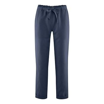 GILL dámské kalhoty z bio lnu a bio bavlny - tmavě modrá ink