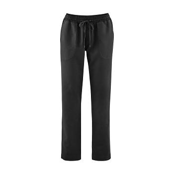 CORA dámské kalhoty z bio lnu a bio bavlny - černá