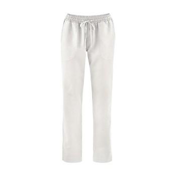 CORA dámské kalhoty z bio lnu a bio bavlny - bílá