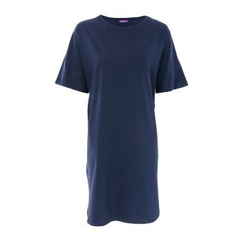 BERIT Dámská noční košile ze 100% biobavlny - tmavě modrá navy