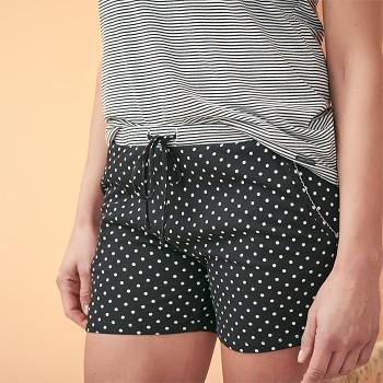 GERDA dámské pyžamové kraťásky ze 100% biobavlny - černá
