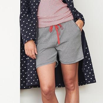 EVA dámské pyžamové kraťásky ze 100% biobavlny - navy proužek