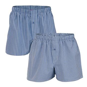 GREGOR pánské boxerky ze 100% biobavlny - modrá denim (2 ks)