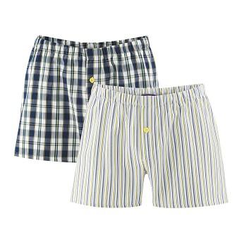 GREGOR pánské boxerky ze 100% biobavlny - modrá/žlutá (2 ks)