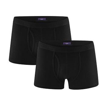 APOLLO pánské boxerky z biobavlny - černá (2 ks)