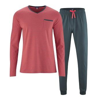COLIN pánské pyžamo pyžamo ze 100% biobavlny - cayenne/asphalt
