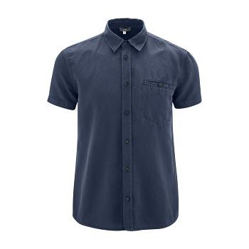GEORGE pánská košile ze lnu a biobavlny - tmavě modrá ink