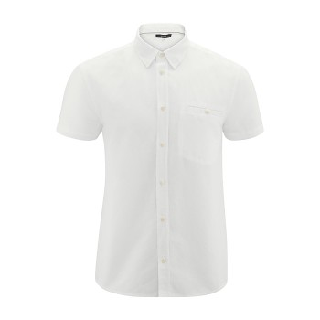 GEORGE pánská košile ze lnu a biobavlny - bílá