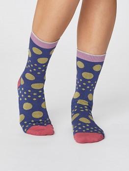 EASY SPOT dámské bambusové ponožky - modrá ocean