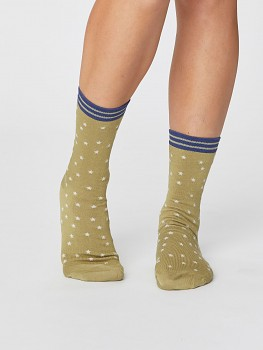 STAR dámské bambusové ponožky - zelená pera