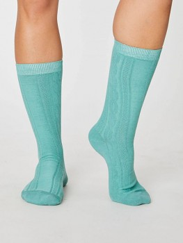 LENORE dámské biobavlněné ponožky - zelená