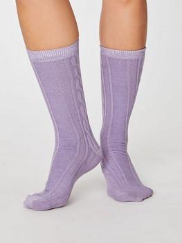 LENORE dámské biobavlněné ponožky - fialová
