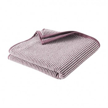 BARCELONA ručník ze 100% biobavlny (50 x 100 cm) - fialový proužek