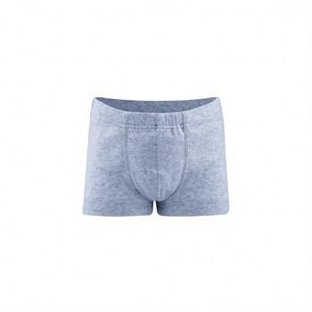 GORILLA chlapecké boxerky ze 100% biobavlny - světle modrá melange