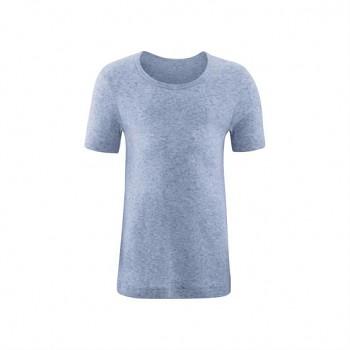 GOAT unisex dětské tričko s krátkými rukávy ze 100% biobavlny - světle modrá melange