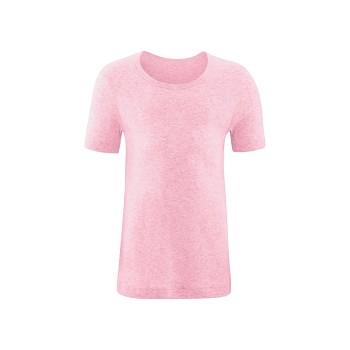 GOAT unisex dětské tričko s krátkými rukávy ze 100% biobavlny - růžová melange