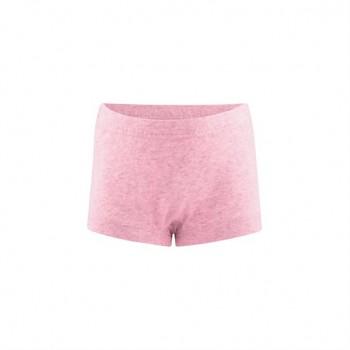 GIRAFFE  dívčí kalhotky (panty) ze 100% biobavlny - růžová melange
