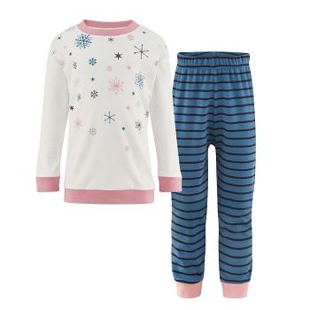 DORABELLA dívčí pyžamo ze 100% biobavlny - modrá/bílá