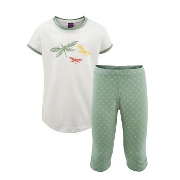 CALENDULA dětské pyžamo ze 100% biobavlny - zelená