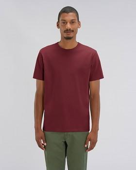 STANLEY SPARKER pánské tričko s krátkým rukávem ze 100% biobavlny - burgundy