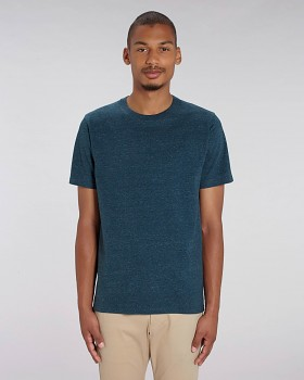 STANLEY SPARKER pánské tričko s krátkým rukávem ze 100% biobavlny - tmavě modrá dark heather denim