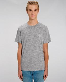 STANLEY SPARKER pánské tričko s krátkým rukávem ze 100% biobavlny - šedá slub heather grey