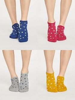 STARRY Dámské kotníkové bambusové ponožky - různé barvy