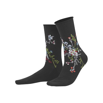HINA dámské ponožky z biobavlny  - černá