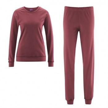 BETTY dámské pyžamo ze 100% biobavlny - fialová winter rose