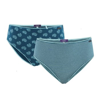 HEJA dámské kalhotky panty ze 100% biobavlny - sada 2 ks