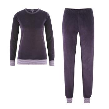 HANNA dámské pyžamo ze 100% biobavlny - fialová švestková