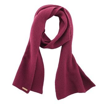 HALIFAX unisex teplá pletená šála z vlny a biobavlny - fialová winter rose