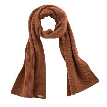 HALIFAX unisex teplá pletená šála z vlny a biobavlny - oranžová rust