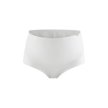 HOLLY dámské těhotenské kalhotky z biobavlny - bílá