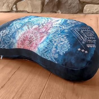 INDIGO meditační špaldový polštářek ze 100% biobavlny s růženíny a ametysty