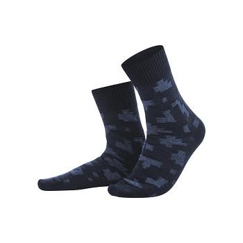 HAGEN pánské ponožky z vlny a biobavlny - modrá navy